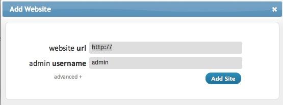 Lägg till webbplats ManageWP